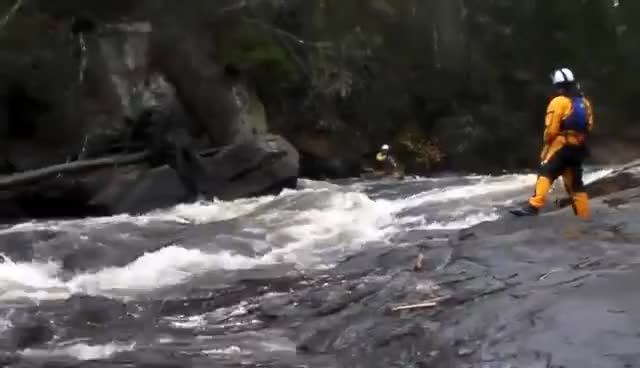 Watch Noire River - Toilet Bowl Rapids Solo Birch Bark Canoe GIF on Gfycat. Discover more related GIFs on Gfycat