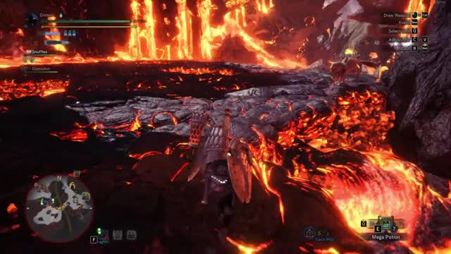 Watch MHW Lavasioth hitbox fun GIF on Gfycat. Discover more Gaming, Grimm _ GIFs on Gfycat