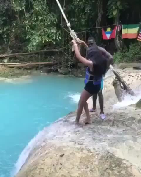 Watch Attempting the rope swing GIF by GB (@gallowboob) on Gfycat. Discover more funny GIFs on Gfycat