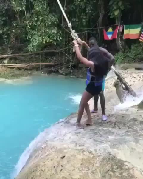 funny, Attempting the rope swing GIFs