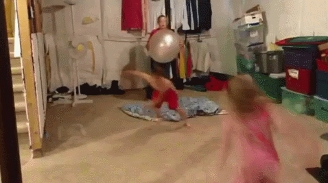 peoplebeingjerks, Kids bouncing off a yoga ball (reddit) GIFs