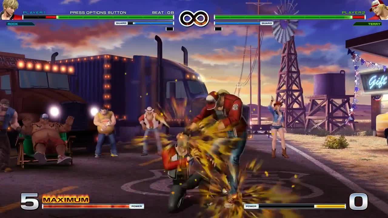 KOF XIV - Rock Howard Gameplay GIFs