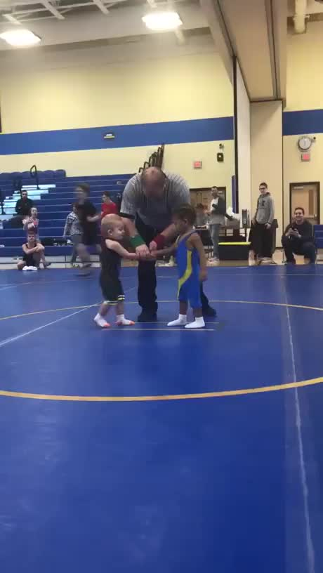 Watch and share Their First Wrestling Match GIFs by hellsjuggernaut on Gfycat