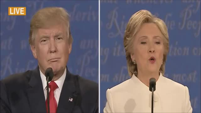 Watch Presidential Debate 3026 GIF on Gfycat. Discover more Donald Trump, Hillary Clinton, debatenight GIFs on Gfycat