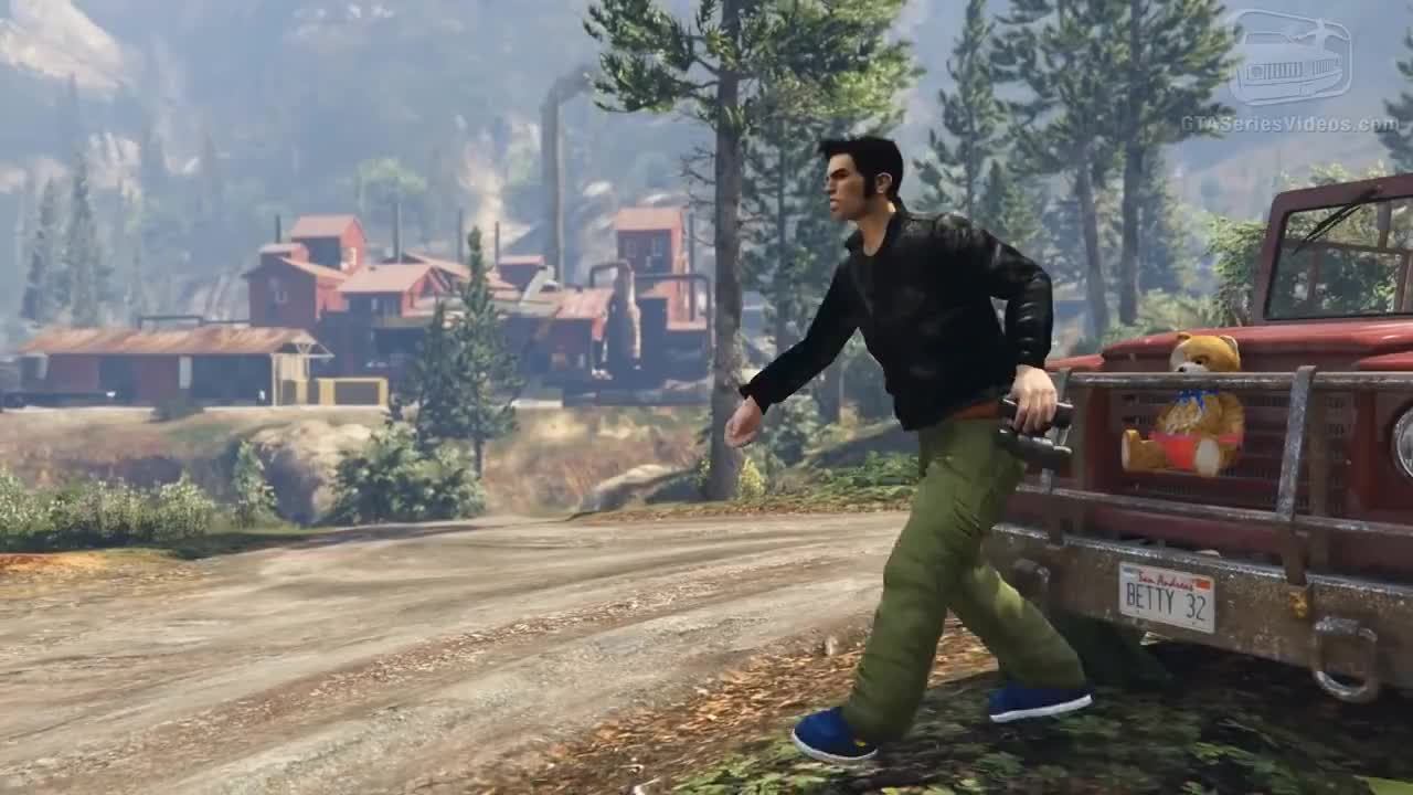 GTA 5 Rockstar Characters Mods - Niko, CJ, Tommy, Claude, John Marston and More GIFs