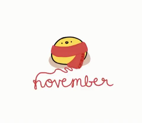 Watch this trending GIF on Gfycat. Discover more autumn, chibird, chilly, fall, months of the year, november, sannahparker, scarf, seasonal GIFs on Gfycat