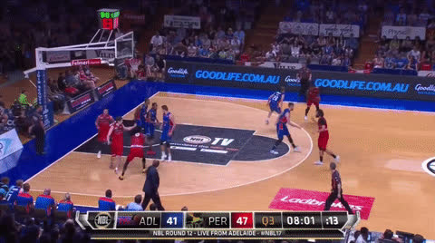 Adelaide 36ers, NBL, Perth Wildcats, Sobey rips Prather GIFs