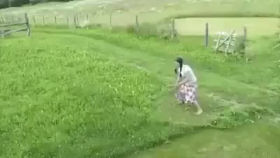 Watch and share Lady Grass Cutter GIFs and Inheritable Lady GIFs on Gfycat