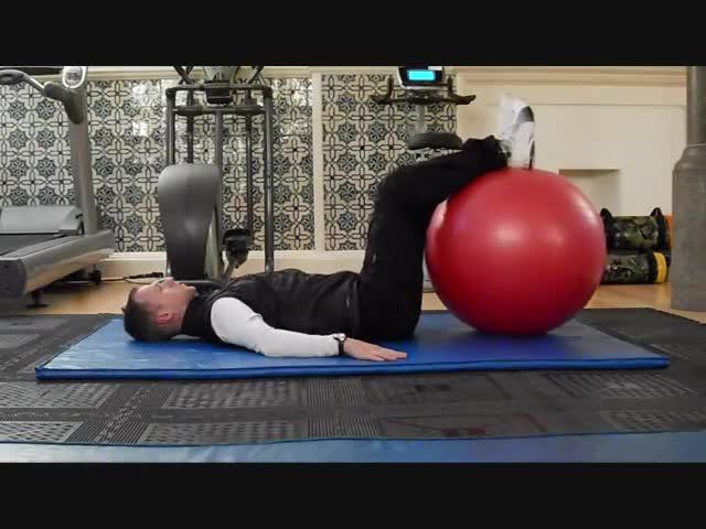 Stability Ball Hip Rotation GIFs