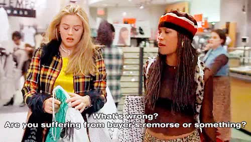 Watch Clueless (1995) GIF on Gfycat. Discover more 1990, 1990s, 1990s fashion, 1990s style, 1995, 90s, alicia silverstone, cher horowitz, clueless, coat, dionne, dionne davenport, fashion, film, gif, movie, retro, stacey dash, style, yellow GIFs on Gfycat