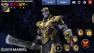 The wait is over...............Thanos Tier 3 is here!! - Marvel Future Fight Avengers Endgame Update wink twice squaredcircle smile omg ok nice marvel future fight make it rain korea good gaming funny flirt excuse me cute crazy chris evans celebs aww GIF