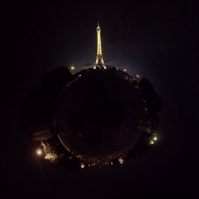 Watch and share Eiffel Tower Illuminations - Paris, France - 360 Cinemagraph, TinyPlanet - Pandorama360 At YouTube.com GIFs on Gfycat