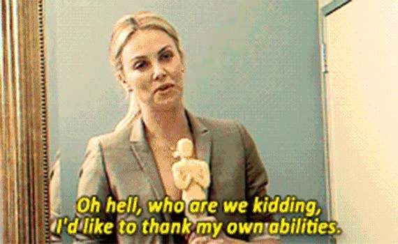 Watch and share Charlize Theron Gif Satisfied GIFs on Gfycat