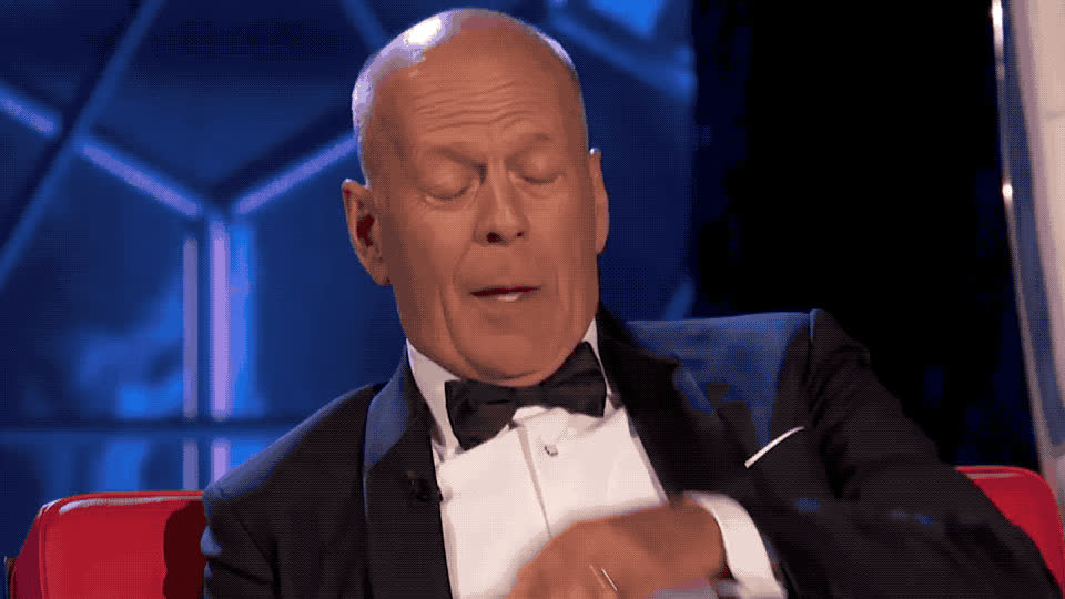 blush, bruce, central, comedy, cruel, cry, disappointed, embarrassed, god, hot, my, no, oh, omg, phew, roast, sad, sweat, tear, willis, Bruce Willis Roast GIFs