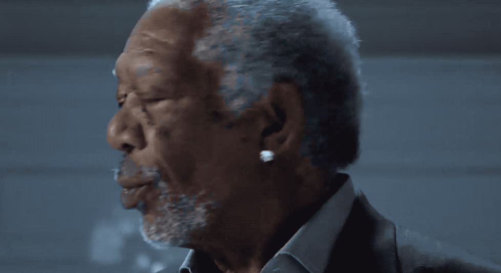 bowl, breath, breathing, cold, commercial, cool, dew, freeman, freeze, freezing, ice, mnt, morgan, smoke, super, superbowl, why, yell, Morgan Freeman - Mtn dew ice commercial GIFs