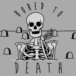 bored, boring, dgaf, look human, meh, over it, sigh, skeleton, ugh, Bored To Death GIFs