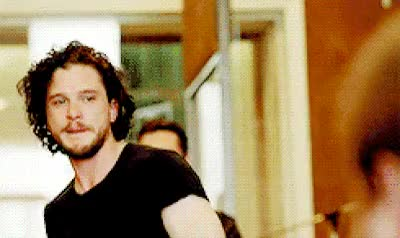 Watch and share Kit Harington GIFs and Rose Leslie GIFs on Gfycat