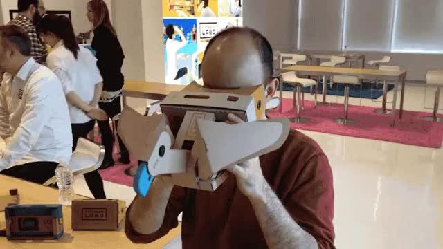 Nintendo's Switch VR Games Have (A Little Bit Of) Nintendo Magic vr games vr twice switch sana nintendo mina lol kpop jihyo gaming funny dubu dance cosmicgirls celebs birthday asiangirlsbeingcute arin GIF