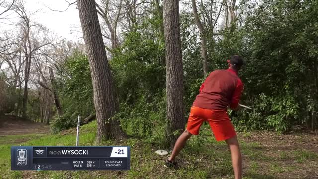 Watch Round Two 2019 Waco Annual Charity Open - Ricky Wysocki hole 9 approach GIF by Benn Wineka UWDG (@bennwineka) on Gfycat. Discover more Sports, dgpt, disc golf, disc golf pro tour GIFs on Gfycat