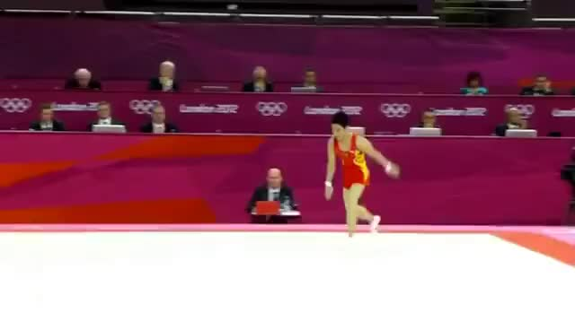 Watch China's gymnast floor winner GIF on Gfycat. Discover more China, Olympics, Zou Kai, floor, gold medal, gymnast, gymnastics, winner GIFs on Gfycat