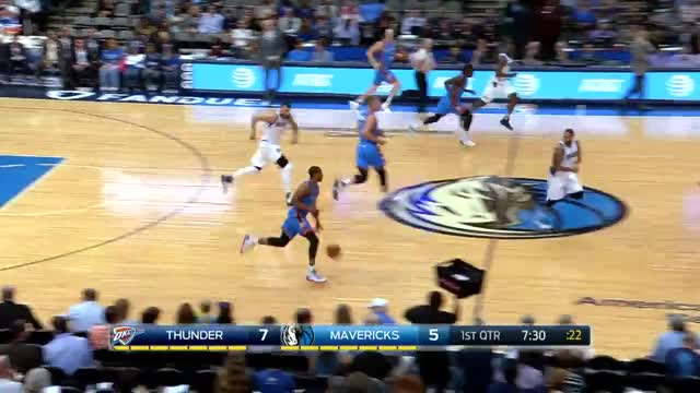 Watch and share Russell Westbrook Goes Around His Back | Thunder Vs Mavericks | Oct 11, 2016 | 2016 NBA Preseason GIFs on Gfycat