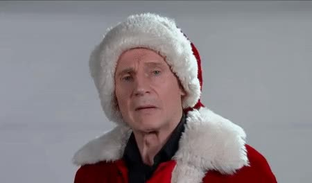 Watch and share Liamneeson GIFs and Christmas GIFs by Reactions on Gfycat