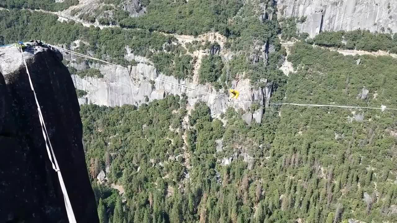 How Not to Rope Jump - Extreme Rope Jumping off Highlines! GIFs
