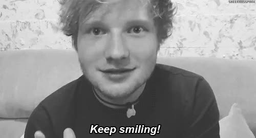Watch and share Ed Sheeran GIFs and Smiling GIFs by Reactions on Gfycat