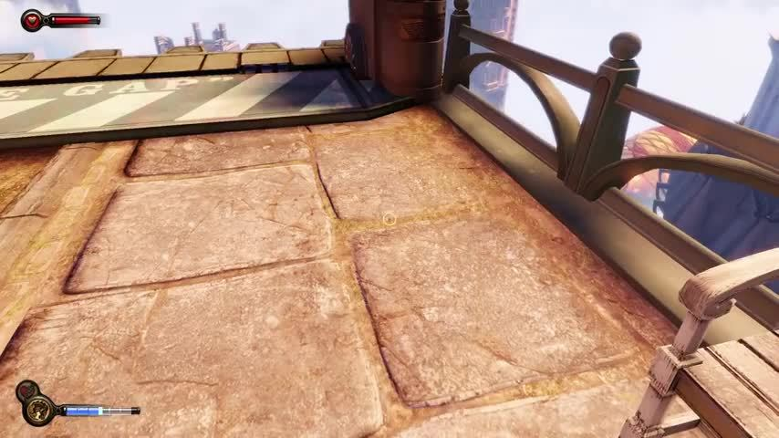 BioshockInfinite, GamePhysics, pcgaming, I found a glitch to buy Bucking Bronco at the beginning of Bioshock Infinite. Simply wanna share it. (reddit) GIFs