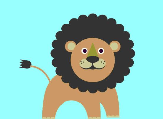 animal, cute, ecard, jungle, lion, loop, zoo, Lion Card GIFs