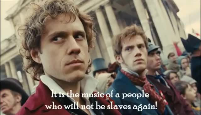 enjolras, les mis, Do You Hear The People Sing? GIFs