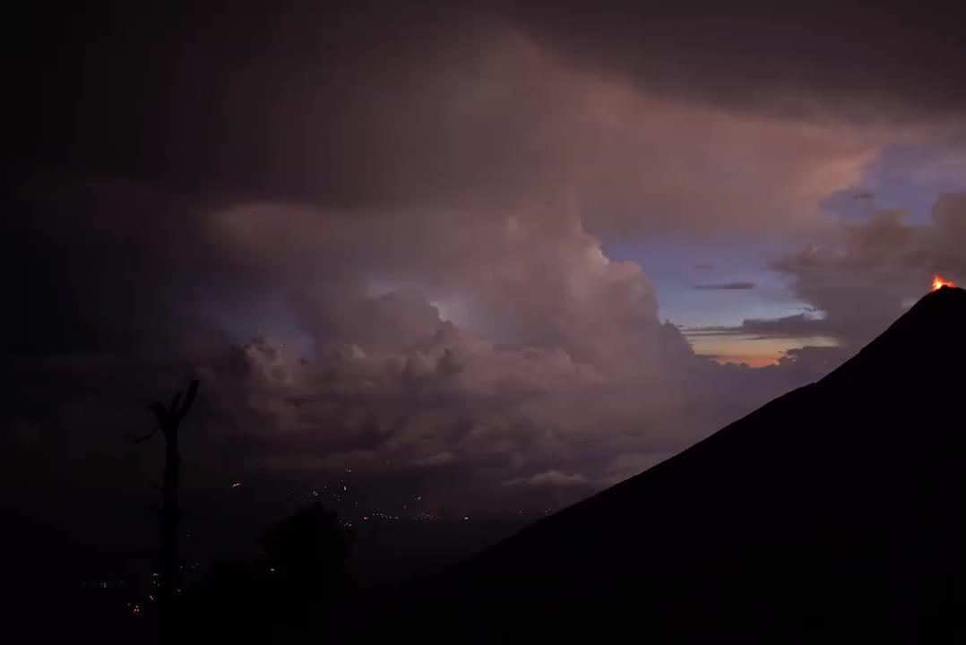 Eruption of Fuego Volcano, Guatemala GIFs