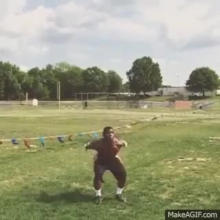 Watch and share FootballNorth Carolina A&T Aggies Running Back Tarik Cohen With A One Handed Catch While Doing A Back Flip (cdn.makeagif.com) GIFs on Gfycat