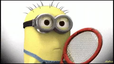 Watch and share Minions Jugando Tenis GIFs on Gfycat