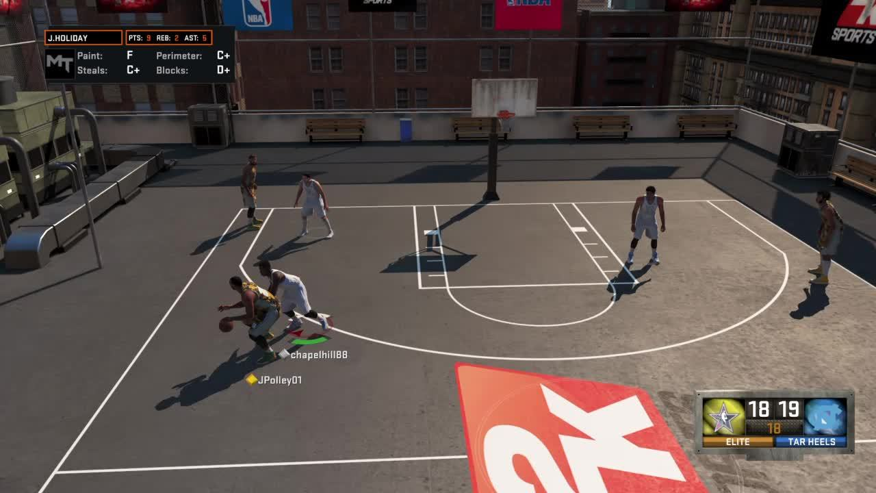 nba2k, Forget Steph Curry, Kareem Abdul-Jabbar is the best 3 point shooter in the game. (reddit) GIFs
