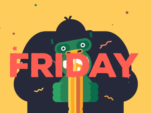 Watch this friday GIF by GIF Queen (@ioanna) on Gfycat. Discover more celebrate, excited, friday, gorilla, happy, party, woohoo, yay GIFs on Gfycat