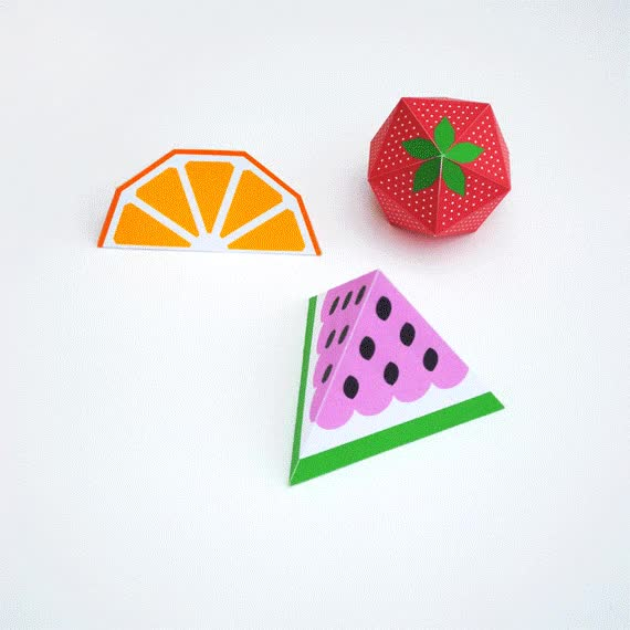 Watch and share Papermau: Decorative Geometrical Fruits Paper Models GIFs on Gfycat