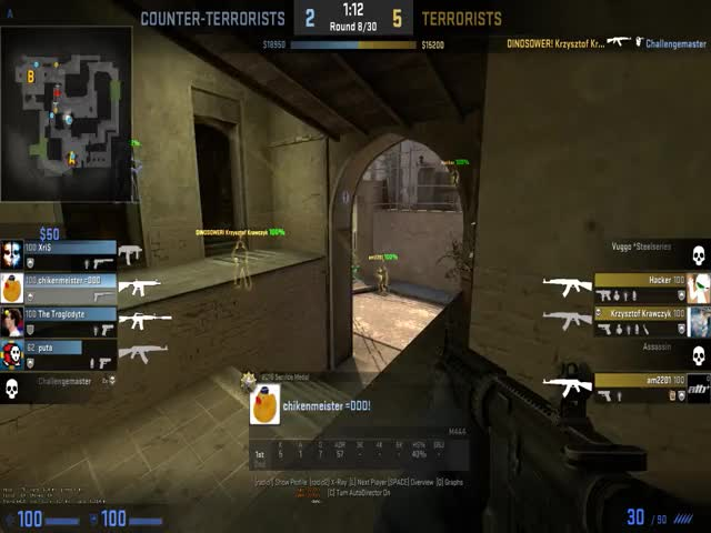 Watch 64tick? Well played lol GIF by @samuray on Gfycat. Discover more globaloffensive GIFs on Gfycat