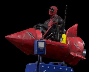 cartoon, character, deadpool, funny, hero, marvel, movie, playing, rocket, superhero, xmen, Chill Deadpool GIFs