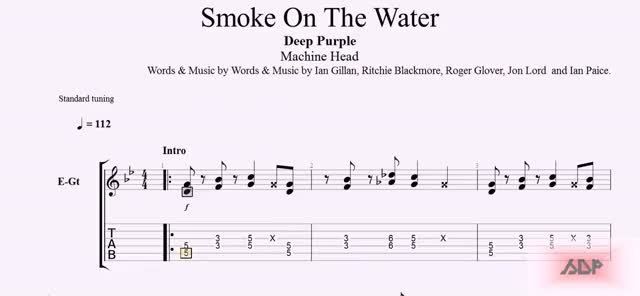Watch Deep Purple Tabs - Smoke On The Water GIF on Gfycat. Discover more related GIFs on Gfycat