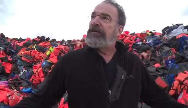 Watch and share Mandy Patinkin Visits Lesbos, Greece GIFs on Gfycat
