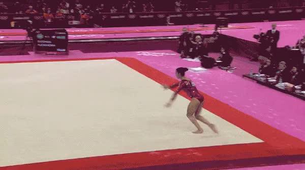 Watch and share Gymnastics GIFs on Gfycat