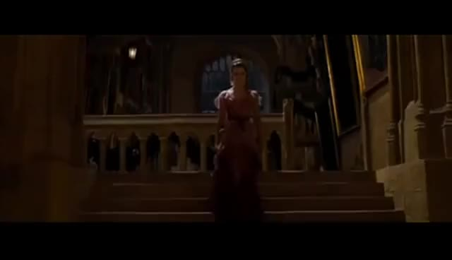 Watch hermione GIF on Gfycat. Discover more beautiful, down, harry, hermione, potter, stairs, the, walks GIFs on Gfycat