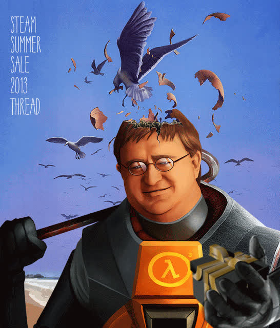 gabe newell, steam GIFs