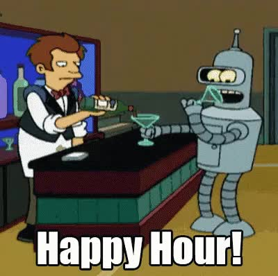 Watch and share Happy Hour GIFs and Futurama GIFs on Gfycat