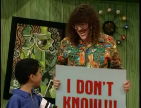 Watch and share Weird Al Yankovic GIFs and I Don't Know GIFs on Gfycat
