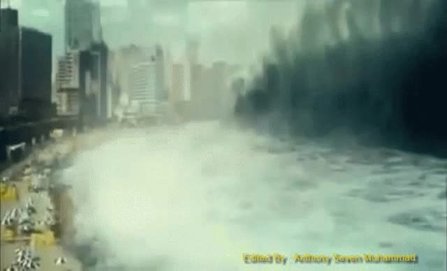 Watch and share Japanese Tsunami | The Mother Wave GIFs on Gfycat
