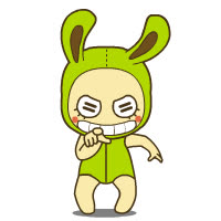 animated, sticker, transparent, Crazy toy rabbits emoticons GIFs