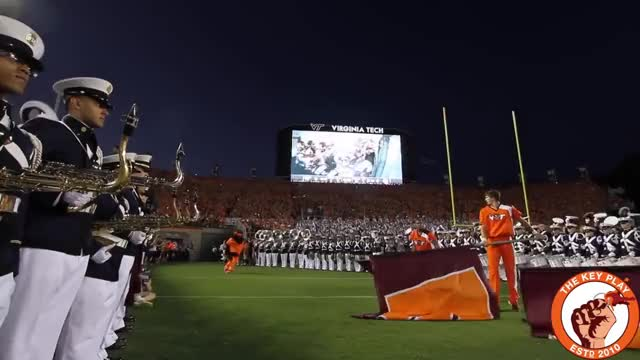 Watch The Virginia Tech Hokies enter Lane Stadium to Enter Sandman Against the Ohio State Buckeyes in 2015 GIF on Gfycat. Discover more related GIFs on Gfycat