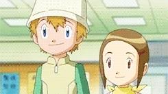 all of them, daisuke motomiya, digigraphic, digimon, digimon adventure 02, dorks, hikari yagami, iori hida, miyako inoue, my gifs, takeru takaishi, Digimon Rewatch GIFs